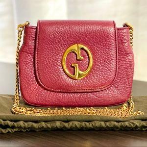 Gucci Retro Design Cherry Gloss Leather CB Bag